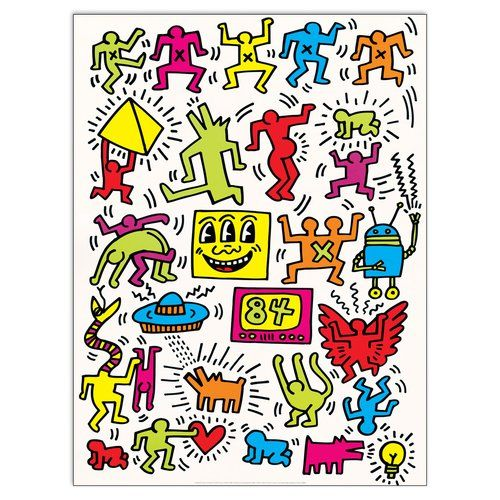East Urban Home Untitled 1984 By Haring Graphic Art Plaque In