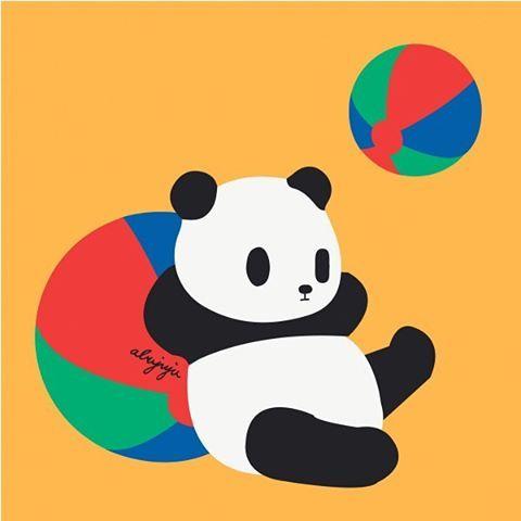 Panda不喜歡馬戲團.  Fandora Shop新上架👉🏻https://fandorashop.com/tw/art/26699  #illustration #イラスト #ぱんだ #panda #cuteanimal #可愛い #fandorashop