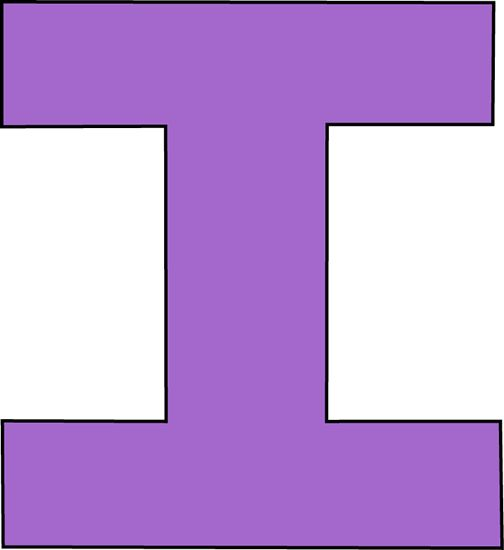 Uppercase Letter I i | Purple Letter I Cl...