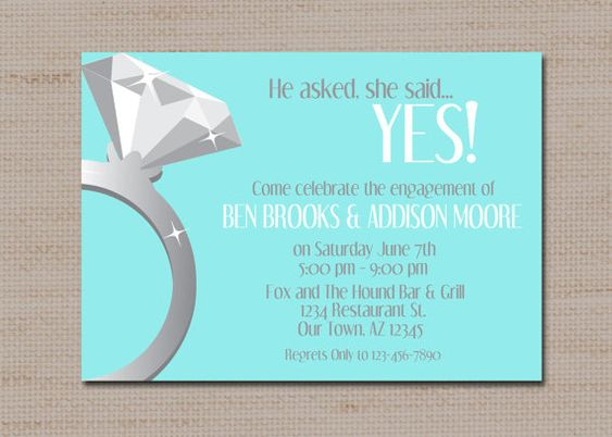 Engagement Party Invitation She said yes Proposal by lovebabble – Party Proposal