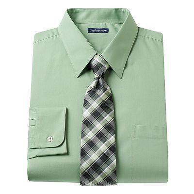 Croft & Barrow® Classic-Fit Dress Shirt & Tie Set - Men