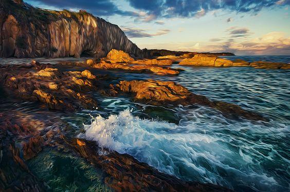 Surreal coastlines, Tomakin, Sth Coast NSW Australia