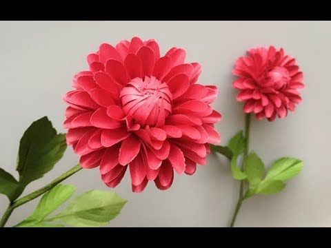 Abc Tv How To Make Dahlia Paper Flower With Shape Punch Craft Tutorial Youtube Paper Flowers Paper Flower Tutorial Paper Flowers Craft