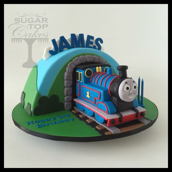 Cake Images Of Thomas The Train : Thomas the train cake Thomas theme Pinterest Train ...