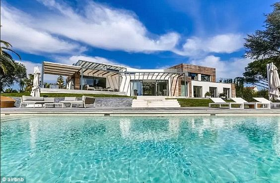 Star treatment: Gwyneth Paltrow got to stay in this $40million villa during her stay in Cannes this week for the Cannes Lions Festival of Creativity 'compliments of Airbnb' - the online rental service