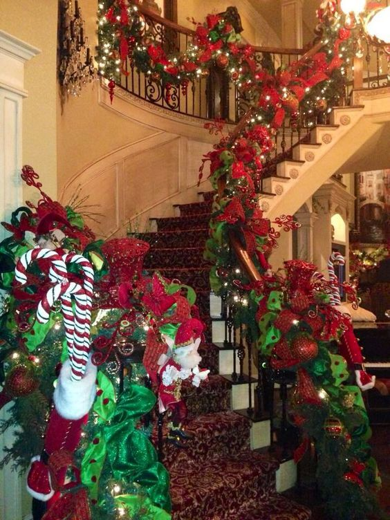 Top 30 Christmas Tree Decoration Ideas Christmas Banister Christmas Decorations Diy Outdoor Christmas Tree Decorations