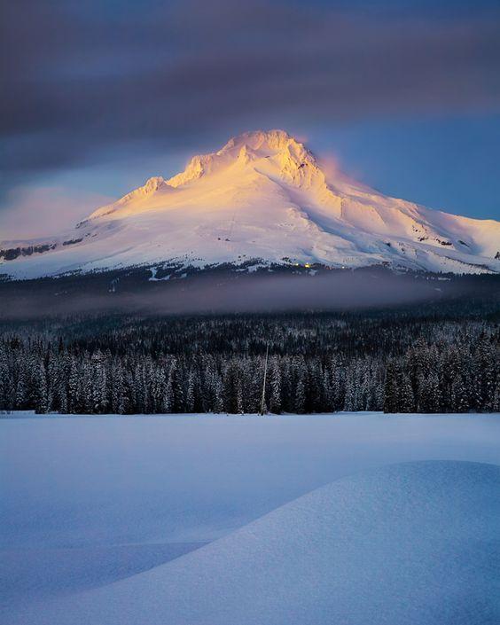 Mount Hood Alpenglow