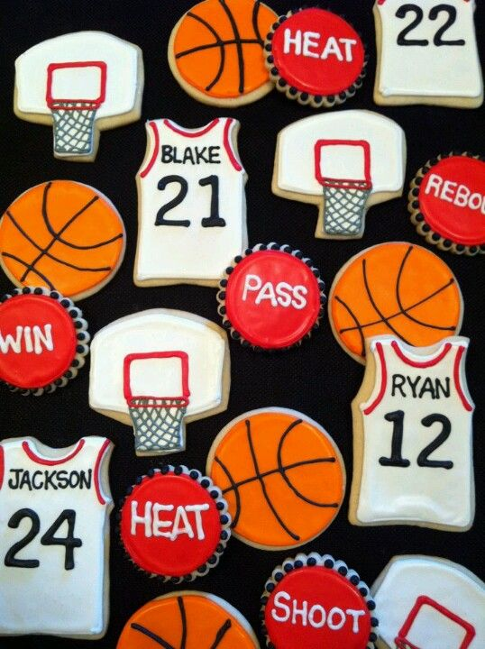 Basketball cookies: