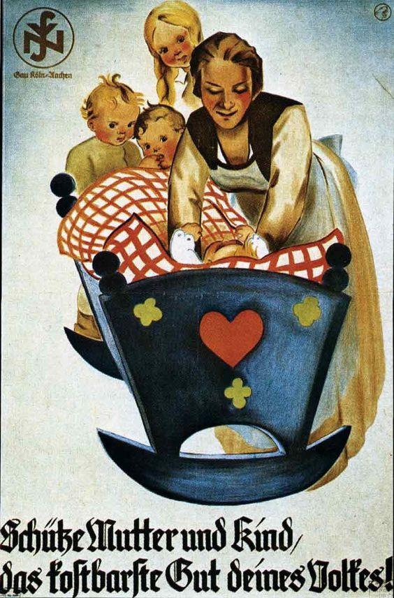 """""""Schütze Mutter und Kind, das kostbarste Gut deines Volkes!"""" - Plakat der Nationalsozialistischen Volkswohlfahrt"""