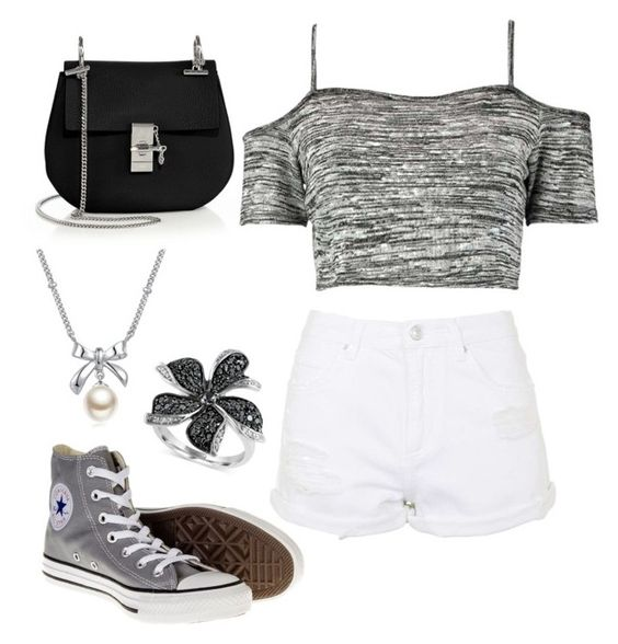 Untitled #119 by arianatlucas on Polyvore featuring polyvore, moda, style, Boohoo, Topshop, Converse, Chloé, Effy Jewelry and MBLife.com