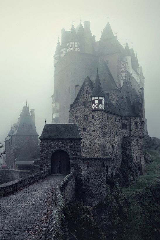 "Eltz Castle - Germany "" The Dark Stronghold by Kilian Schönberger "". I've never before seen a picture of it in fog but always in bright sunlight. This makes it look so much different.:"