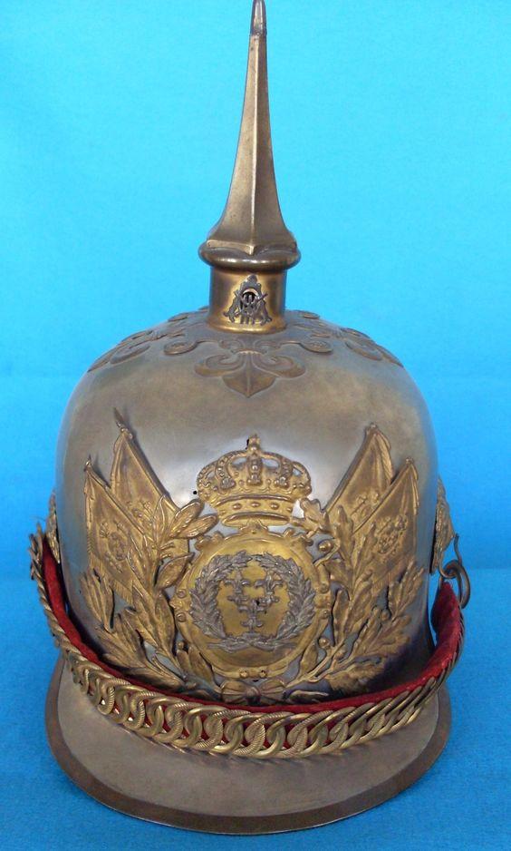 Casco Mod. 1909 Oficial. Lanceros de Borbón 4º