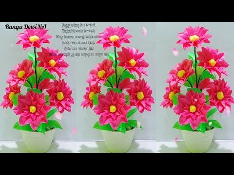 Kerajinan Tangan Cara Membuat Bunga Dari Plastik Kresek Youtube