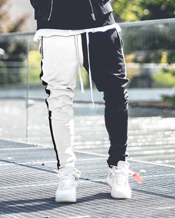 Product Men's color matching color  zipper casual pants Brand Name Coastoo SKU DA8057571EE2 Gender Men Style Casual Material cotton Type pants Decoration Pure color Please Note:All dimensions are measured manually   with a deviation of 1 to 3cm SIZE/CM WAIST LENGTH HIP M 74 104 102 L 78 106 103 XL 82 108 104
