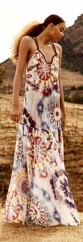 Rachel Zoe Pre Fall 2020 Fashion Maxi Dress Hippie Chic [ 1525 x 528 Pixel ]