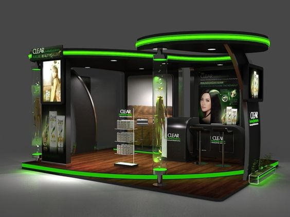 Exhibition Stall On Behance : Clear booth design by defri mubarak via behance