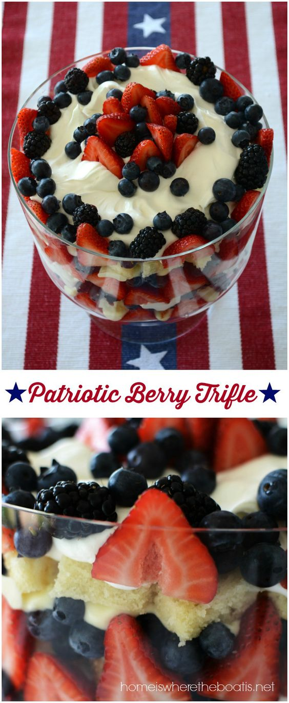 Patriotic berry trifle a quick and easy no bake dessert for Quick and easy trifle dessert recipes