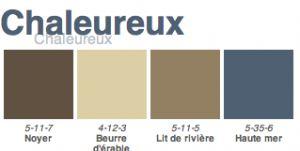 décoration chambre nuancier pour associer couleur bleu, marron, beige