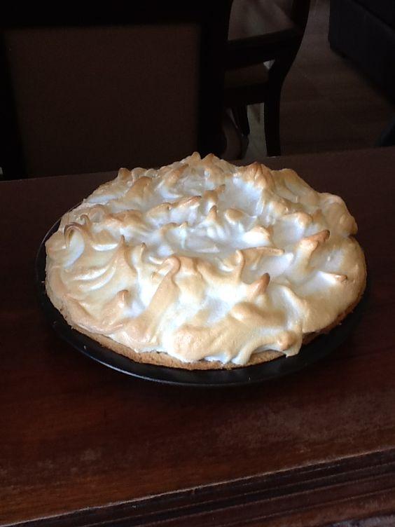 Hoy de postre una rica tarta de crema (cream pie)....