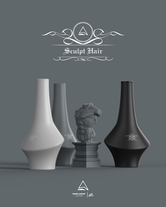 Sculpt Hair - Shampoo bottle designs on Behance