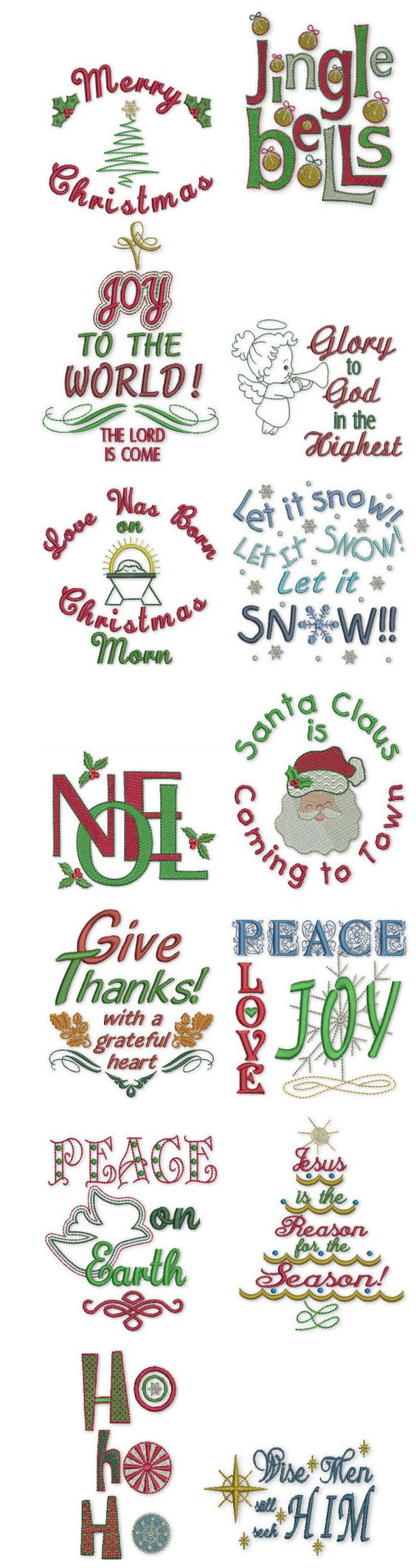 Embroidery | Free Machine Embroidery Designs | Holiday Expressions  @Matt Nickles Nickles Valk Chuah red stitch Johnson by JuJu