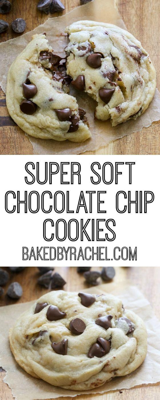 Super Soft Chocolate Chip Cookies That Stay Soft Recipe From Rachel Baked By Rachel Cuisine Et Boissons Nourriture Recettes De Cuisine