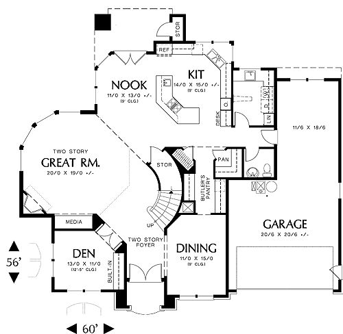 First Floor Plan Image Of Sedgwick House Plan Awesome Floor Plan Just Too Large Love The Two