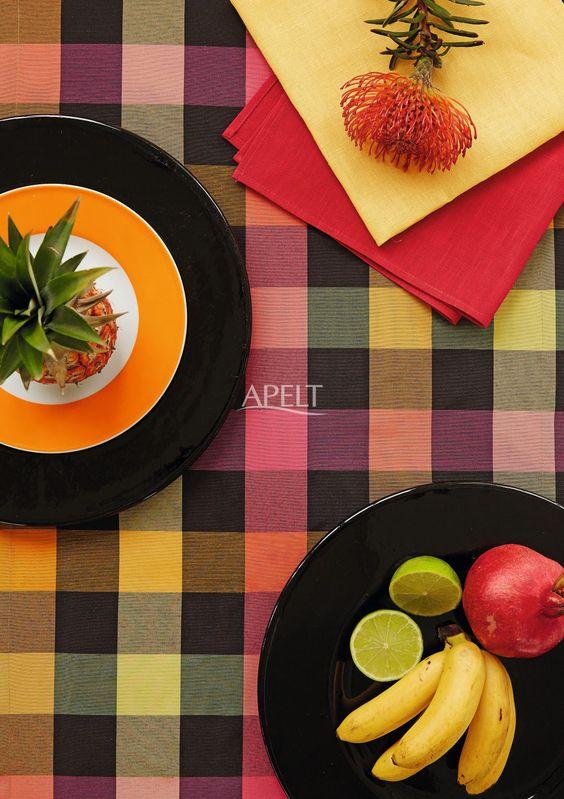 Tischdekoration, Karomuster von Apelt, Artiekl 4035 und passende Servietten, Artikel Tosca