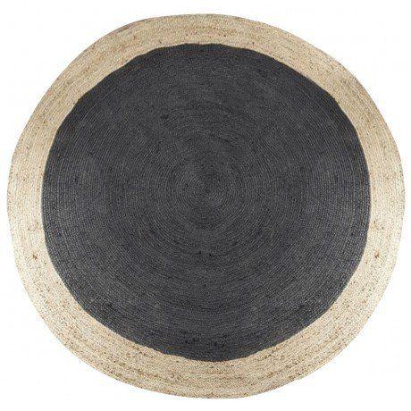round black jute rug  rugs    jute rug, jute and rugs, black round rug 6', black round rug small, black round rugs cheap