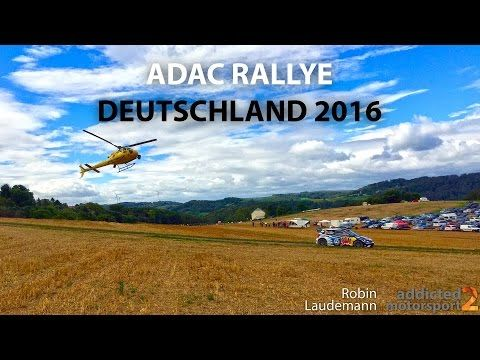 WRC // ADAC Rallye Deutschland 2016 - Highlights & Pure Sound - YouTube