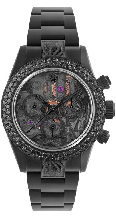 Fancy - Rolex Daytona Skeleton II Black Diamond by MAD: