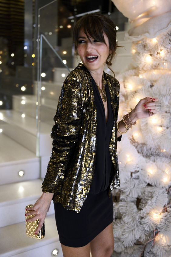 Sequin blazer outfit