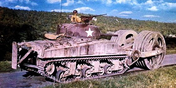 Un Sherman démineur,