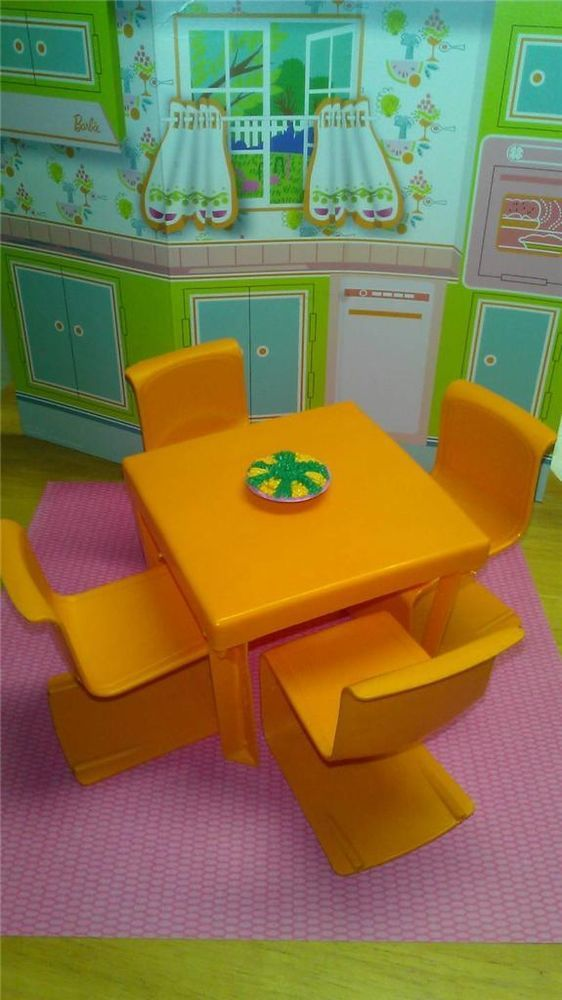 Barbie Vintage 70 39 S Doll House Furniture Orange Retro