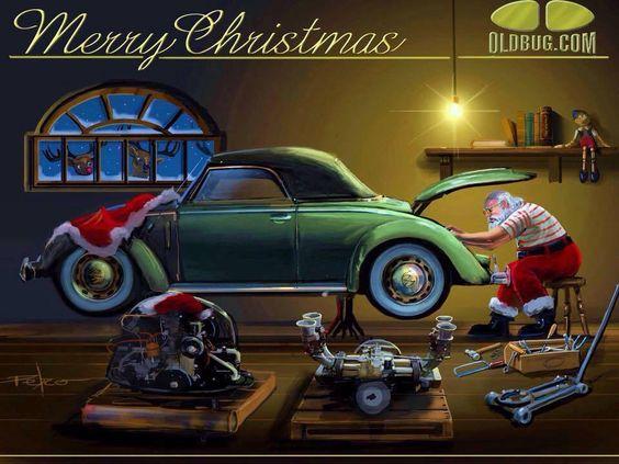Mis niños, si sus regalos no llegan a tiempo o simplemente no llegan... Se debe a la pésima elección de trineo por parte de #Santa.  #InfernoGarage #VWBug