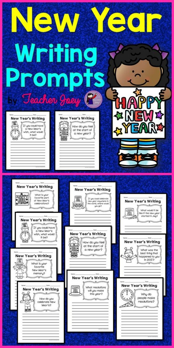 new year writing prompts New year's writing prompt i think this would be a great prewriting activity to get my kids to write in paragraphs find this pin and more on new year's teaching ideas by rachel friedrich new year's writing prompt also use for girls' homeschool yearbooks.