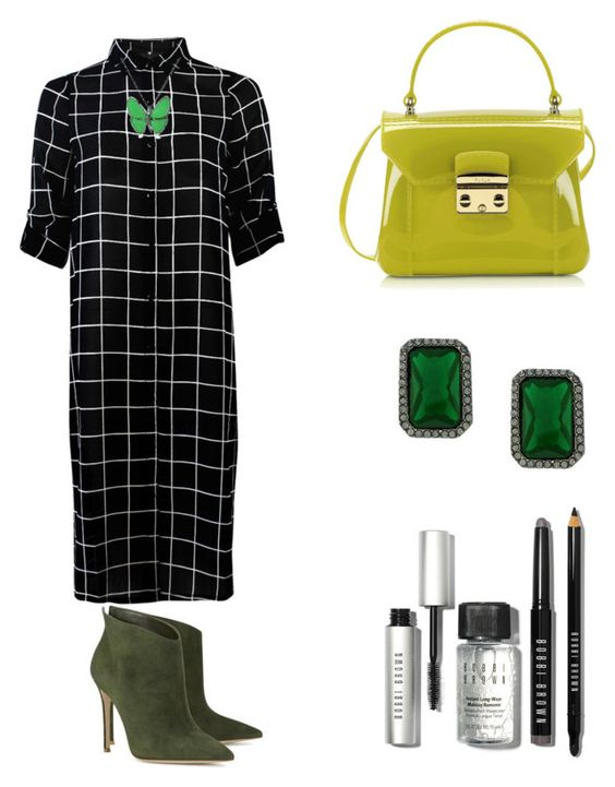 """""""Grace"""" by zoechengrace on Polyvore featuring Gianvito Rossi, Furla, Bling Jewelry, Vince Camuto, Bobbi Brown Cosmetics, women's clothing, women, female, woman and misses"""