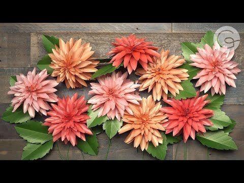 Video Tutorial New Frosted Paper Dahlia Flower Kit Lia Griffith Paper Flowers Paper Dahlia Paper Flower Kit