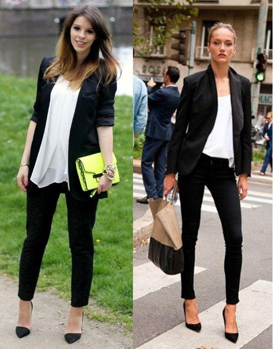 02_Looks de trabalho_looks femininos_Looks para entrevista de emprego_Calça preta_blazer preto: