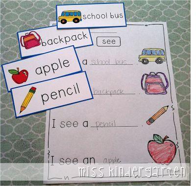Miss Kindergarten: Writing in Kindergarten      This could be used with seasonal words