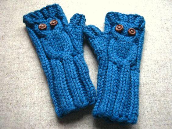 fingerlose handschuhe eule kinder petrol 2 bis 4 j bio. Black Bedroom Furniture Sets. Home Design Ideas