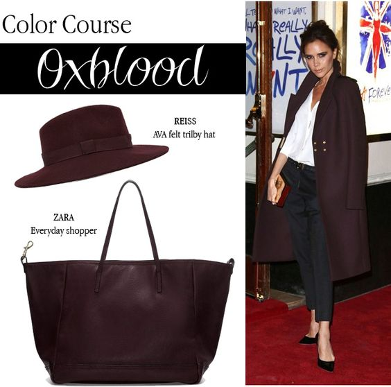 Color Course Oxblood via Tiffany Pinero Style