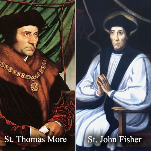 St Thomas More St John Fisher Feast June 22 Saints Heroes Anf Articles St John Fisher Thomas Historical People