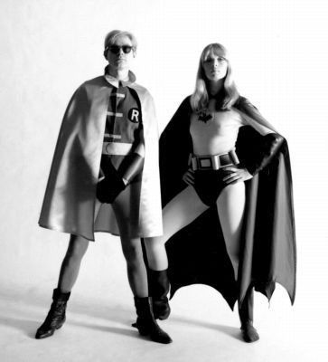 Andy Warhol and Nico as Batman and Robin in 1967. Well, this is all kinds of awesome
