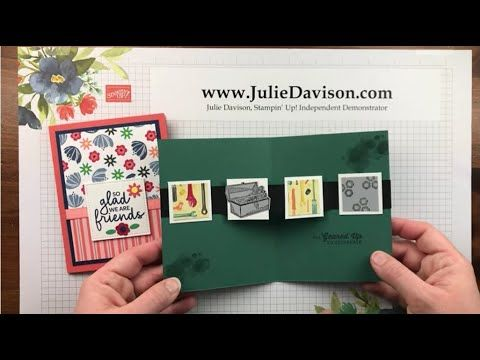 Julie S Stamping Spot Stampin Up Project Ideas By Julie Davison Video Floating Pop Up Card Tutorial Fun Fold Cards Card Tutorial Pop Up Cards