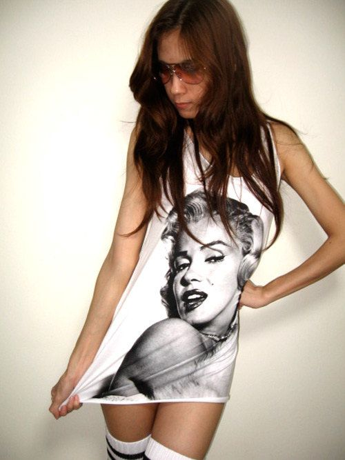 Marilyn Monroe Pop Art Film Rock Icon Tshirt Tank by sixwas9ine, $15.99