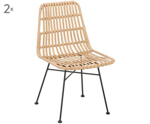 Polyrattan Stuhle Costa 2 Stuck Westwingnow Outdoor Chairs Chair Outdoor Furniture