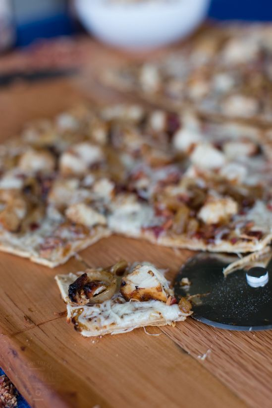 Grilled Barbecue Chicken Pizza with Caramelized Onions and ...