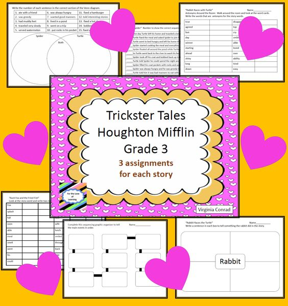worksheets and activities for the fun Trickster Tales unit in ...
