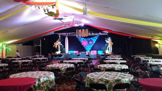 Luau Theme Event Decor and Props, built and designed in house by Sixth Star Entertainment. www.sixthstarentertainment.com 954-462-6760